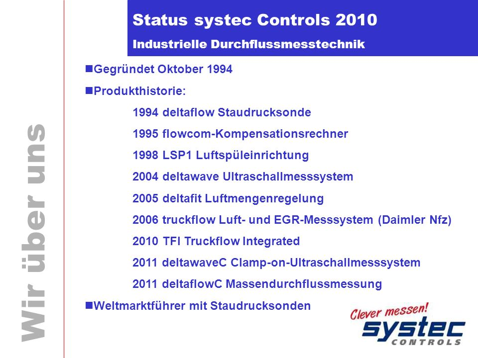 Status systec Controls 2010