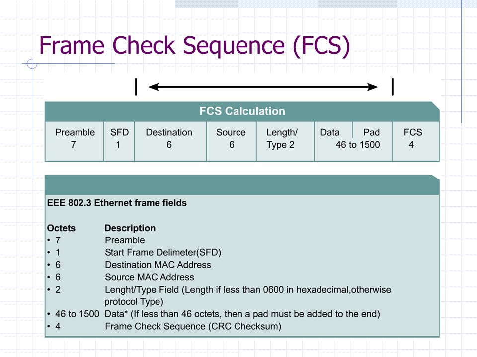 Frame Check Sequence (FCS)