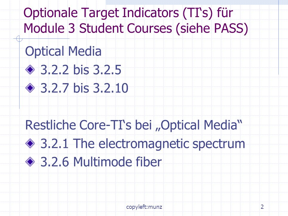 "Restliche Core-TI's bei ""Optical Media"