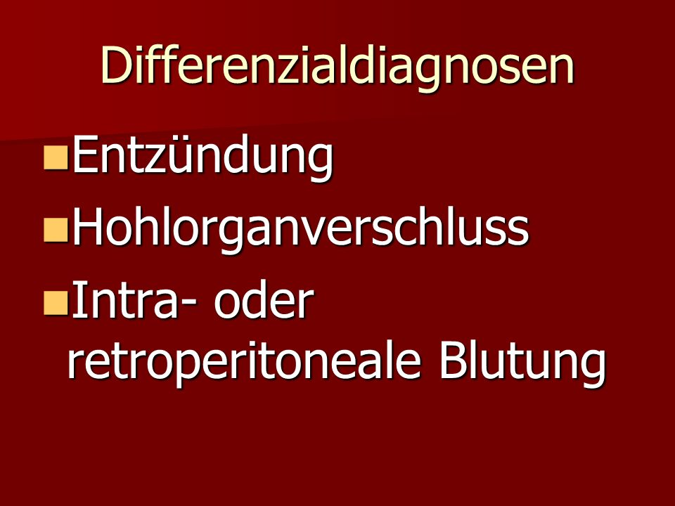 Differenzialdiagnosen