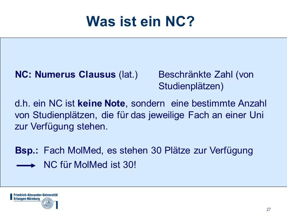 Friedrich alexander universit t erlangen n rnberg ppt for Numerus clausus anmeldung