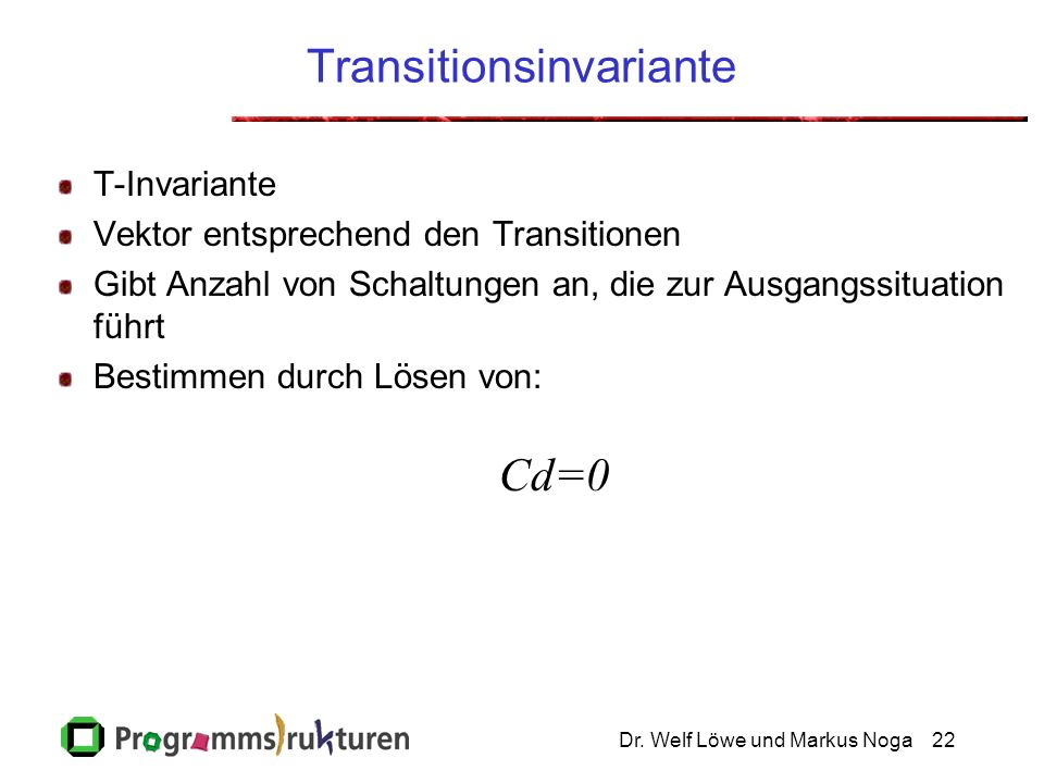 Transitionsinvariante