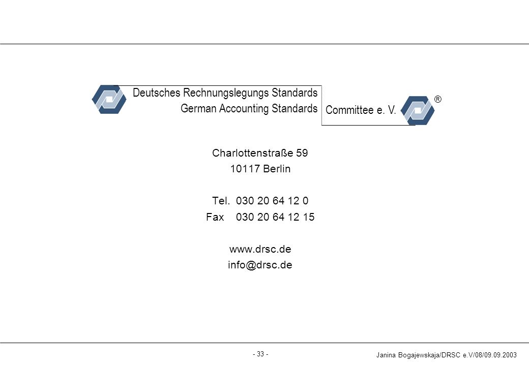 Deutsches Rechnungslegungs Standards German Accounting Standards