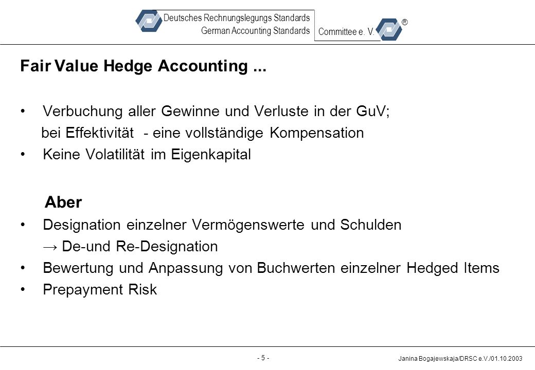 Fair Value Hedge Accounting ...