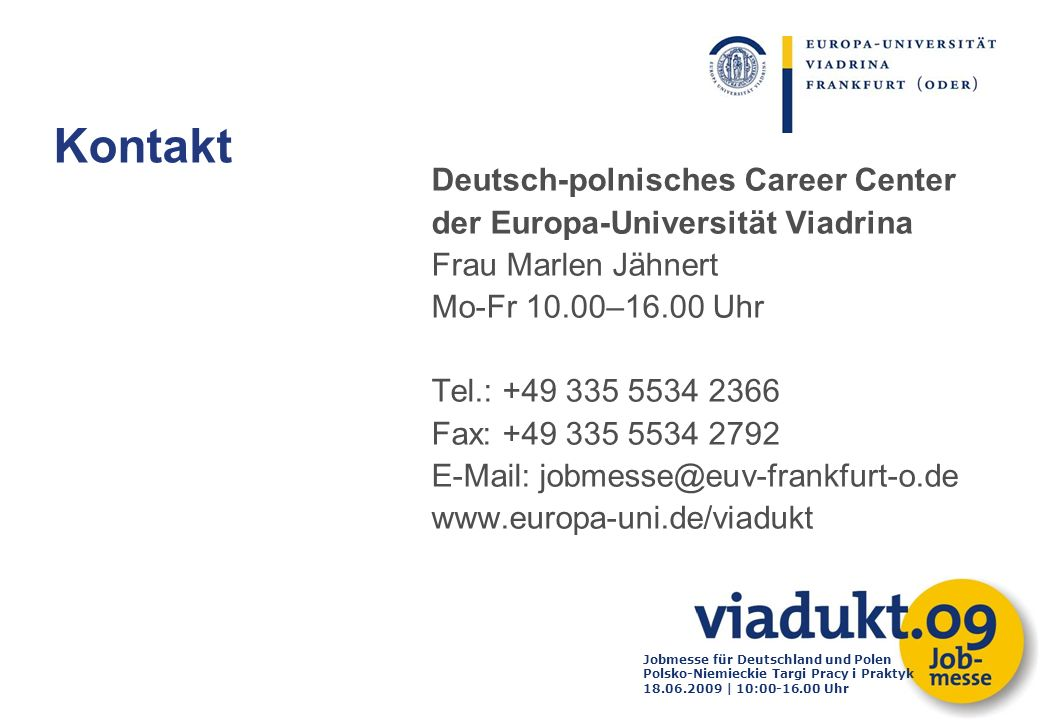 Kontakt Deutsch-polnisches Career Center