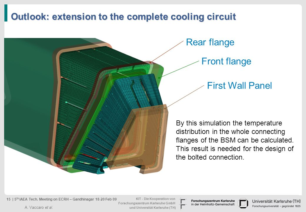 Outlook: extension to the complete cooling circuit