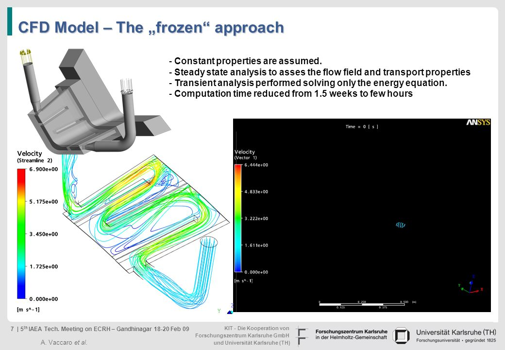 "CFD Model – The ""frozen approach"