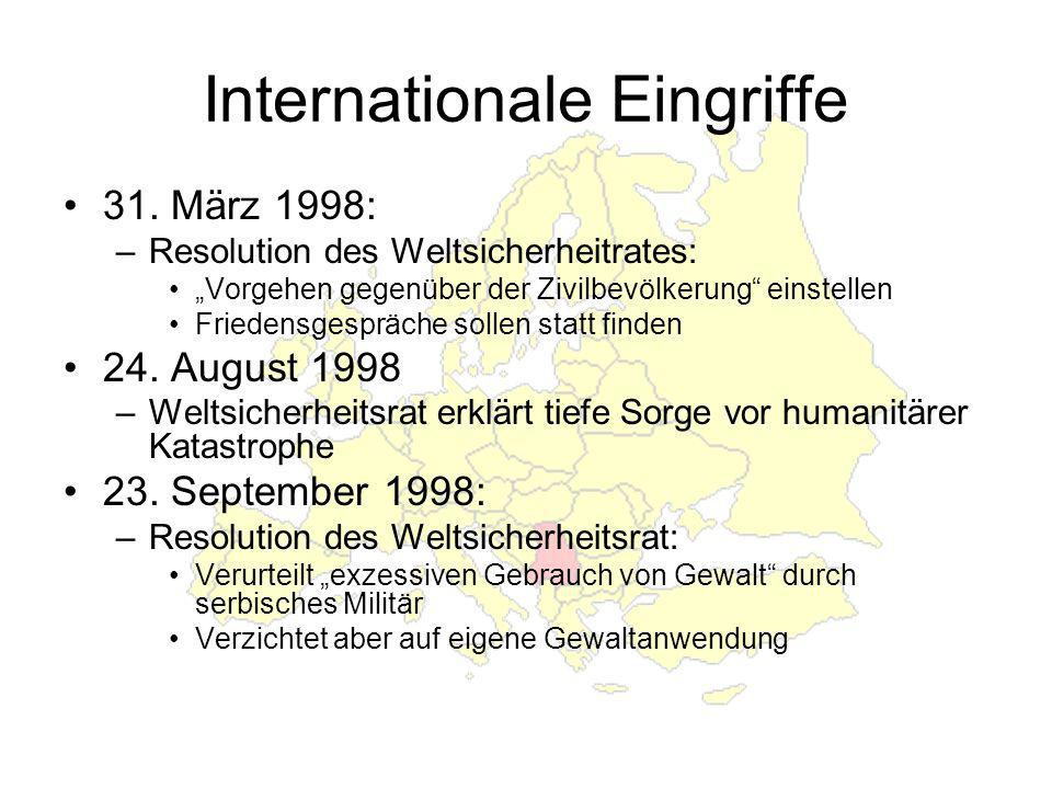 Internationale Eingriffe