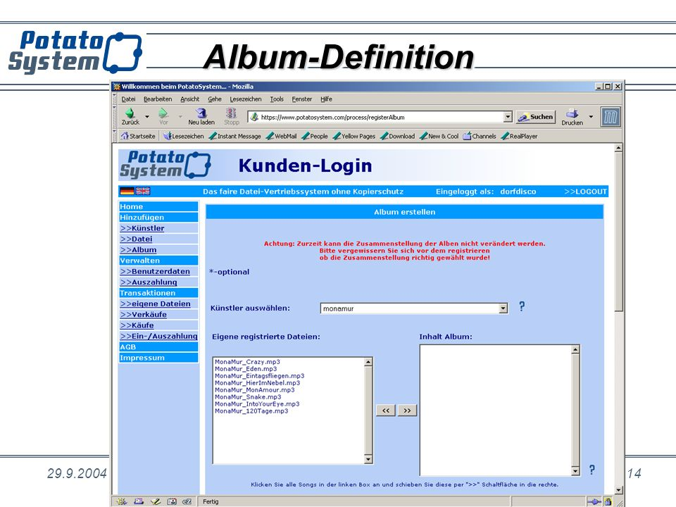 Album-Definition 29.9.2004. Dr.