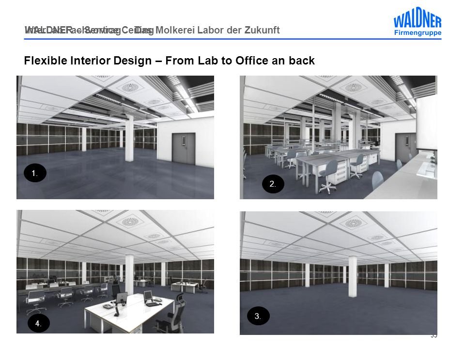 Flexible Interior Design – From Lab to Office an back
