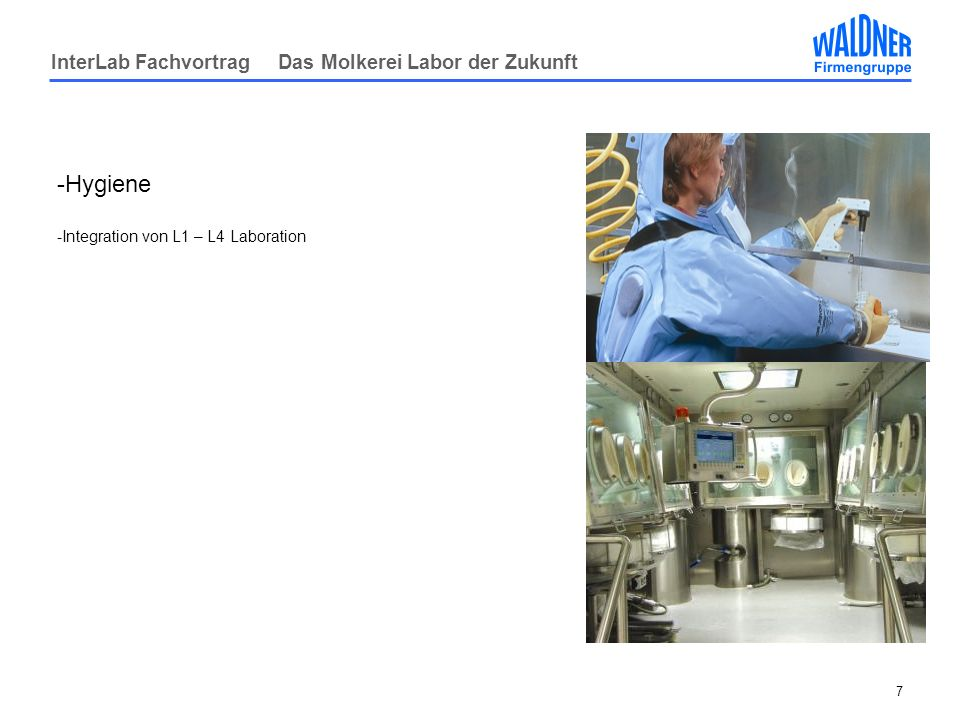 Hygiene Integration von L1 – L4 Laboration