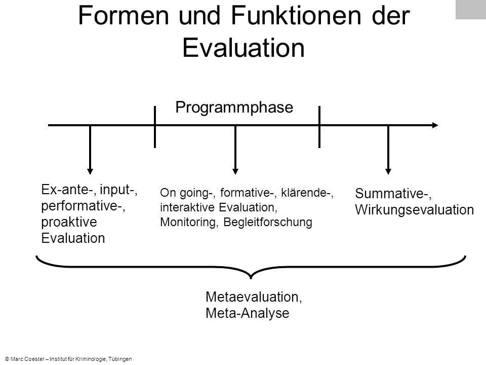 Formen und Funktionen der Evaluation