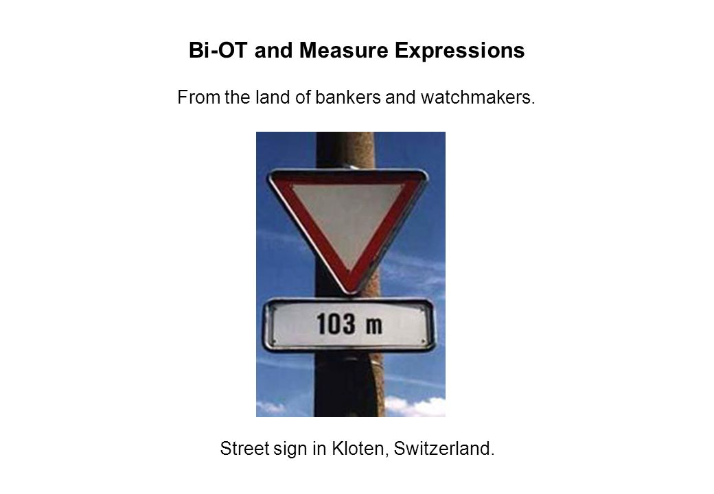 Bi-OT and Measure Expressions