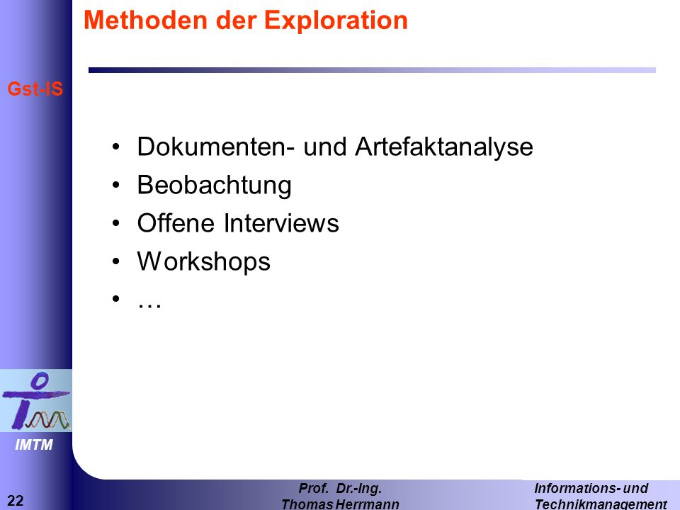 Methoden der Exploration