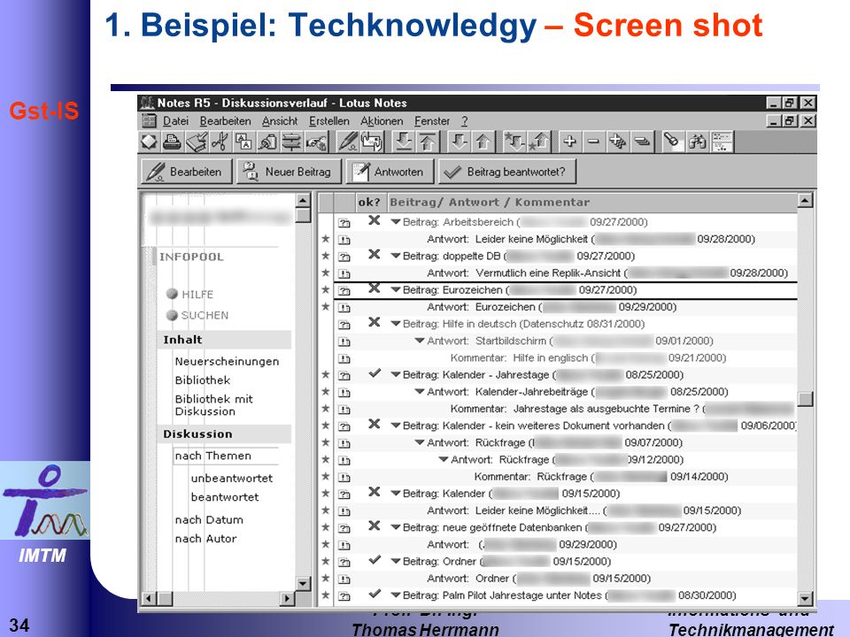 1. Beispiel: Techknowledgy – Screen shot