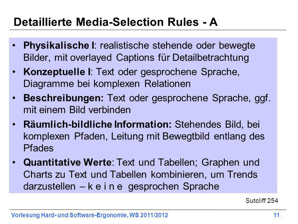 Detaillierte Media-Selection Rules - A