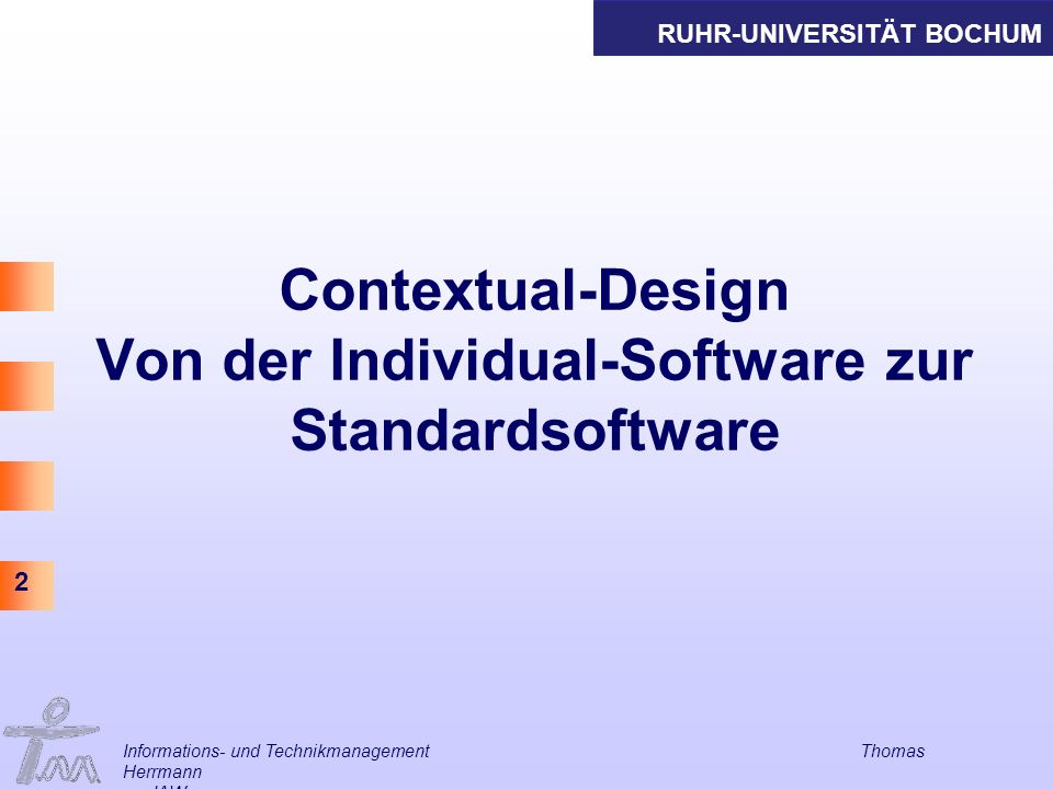 Contextual-Design Von der Individual-Software zur Standardsoftware