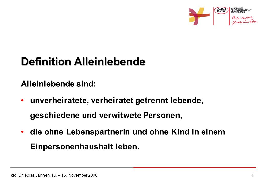 Definition Alleinlebende