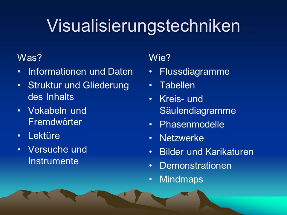 Visualisierungstechniken