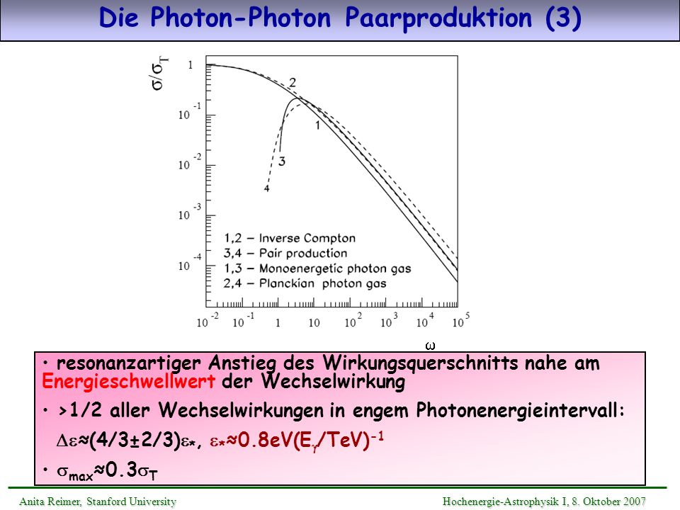 Die Photon-Photon Paarproduktion (3)