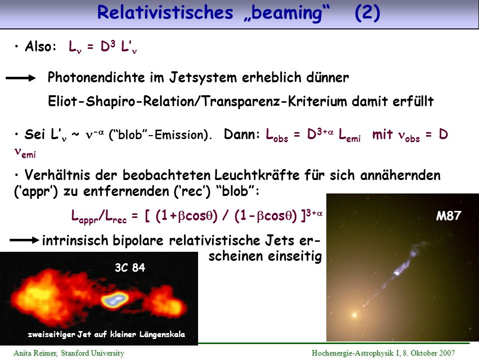 "Relativistisches ""beaming (2)"