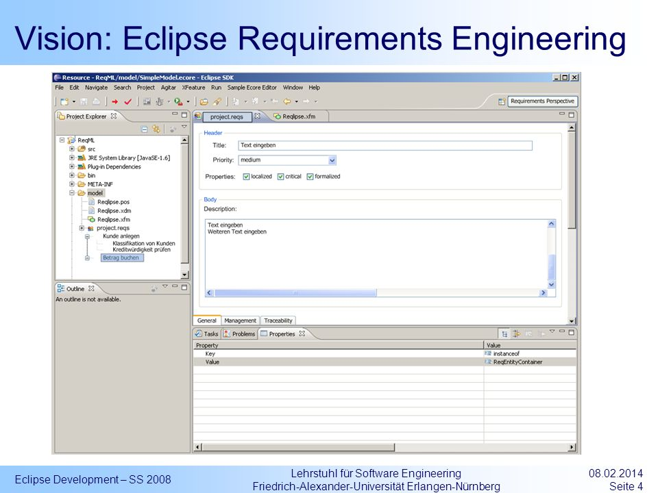 Vision: Eclipse Requirements Engineering