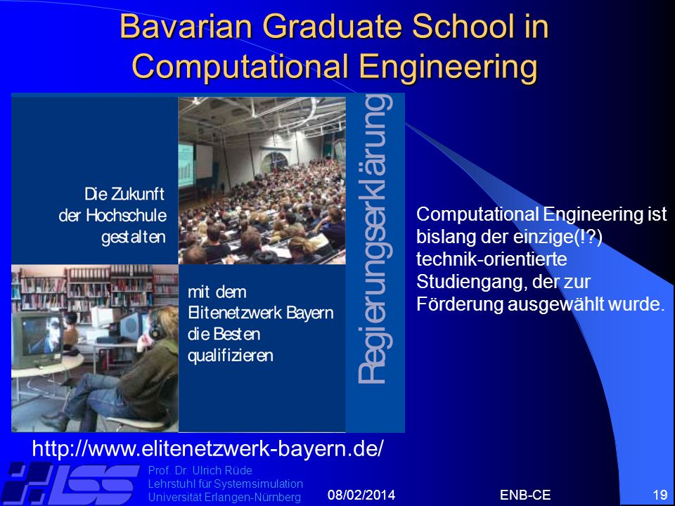Bavarian Graduate School in Computational Engineering