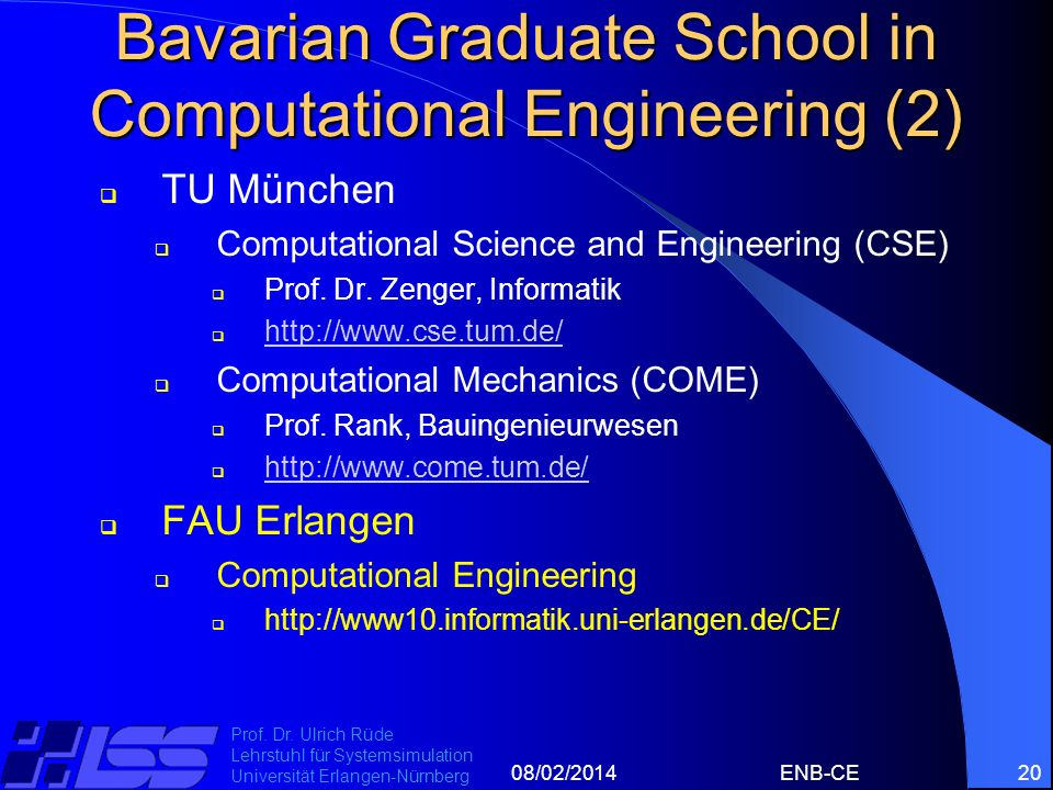Bavarian Graduate School in Computational Engineering (2)