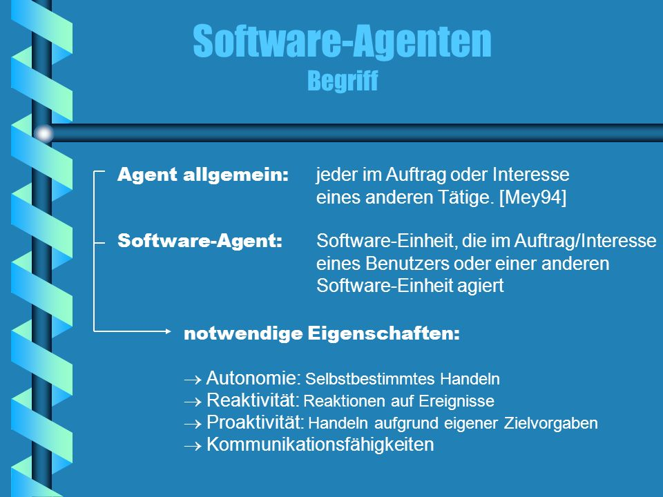 Software-Agenten Begriff