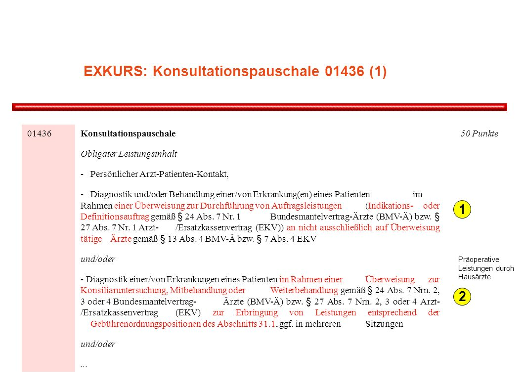 EXKURS: Konsultationspauschale (1)