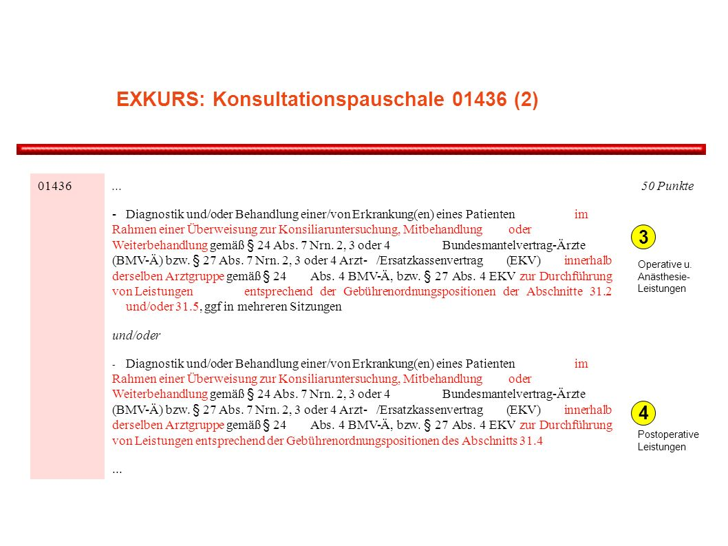 EXKURS: Konsultationspauschale (2)