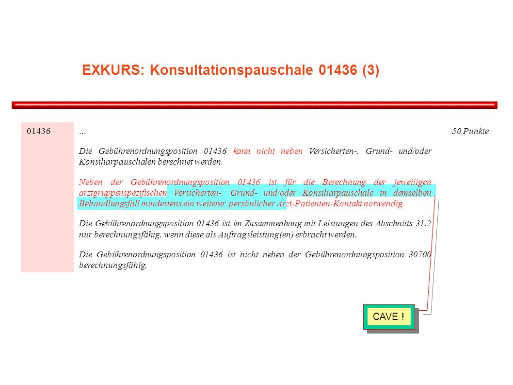 EXKURS: Konsultationspauschale (3)
