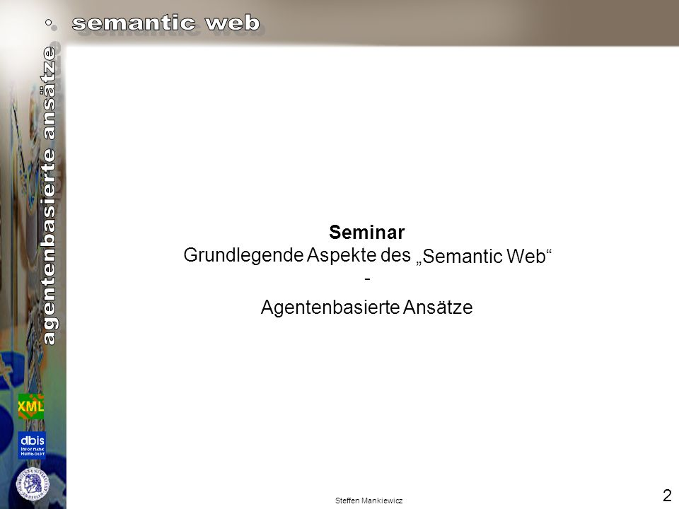"Grundlegende Aspekte des - ""Semantic Web"