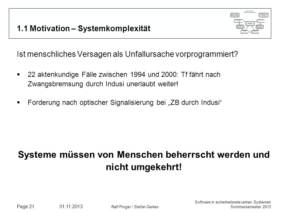 1.1 Motivation – Systemkomplexität