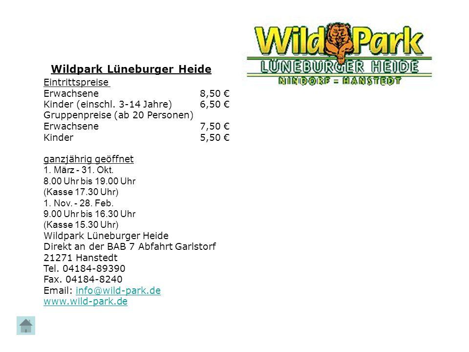 Wildpark Lüneburger Heide Karte.Ausflugsziele Hier Liegt Das Jugendwaldheim Oerrel Unsere Anschrift