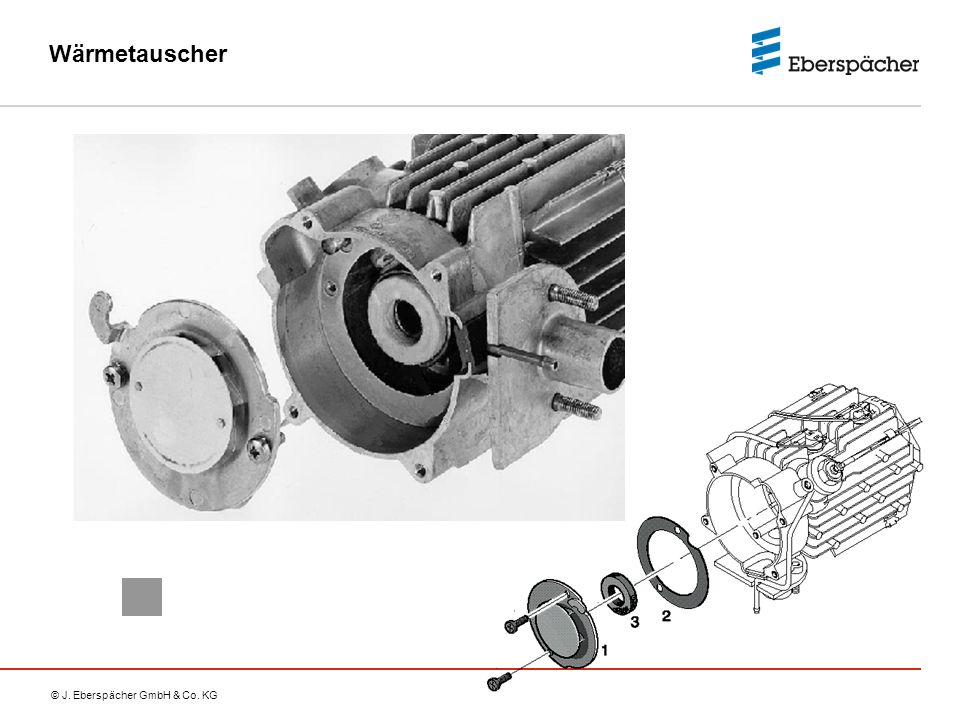 Wärmetauscher Only the cover (combustion air guide) can be removed from the heat exchanger.