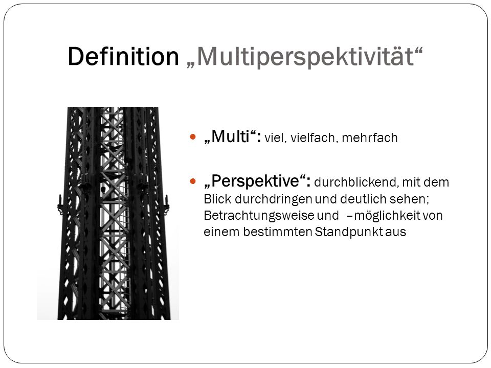 "Definition ""Multiperspektivität"