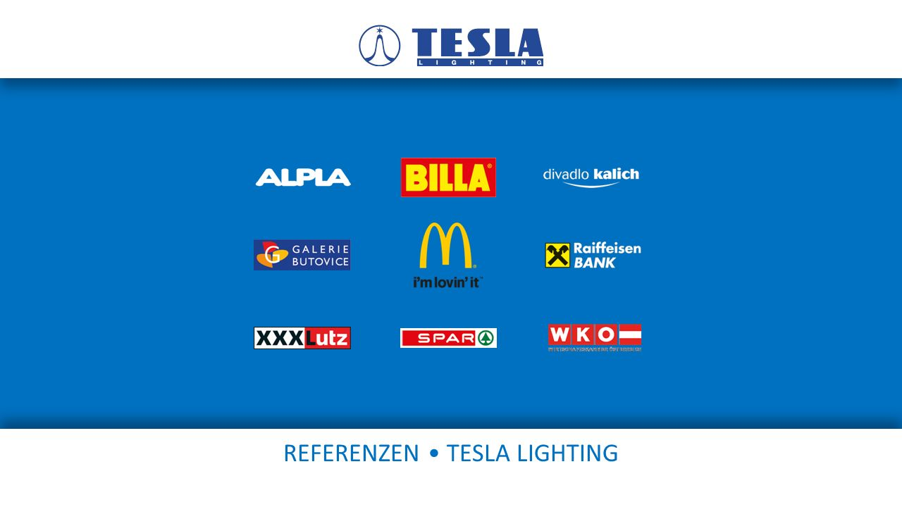 REFERENZEN • TESLA LIGHTING