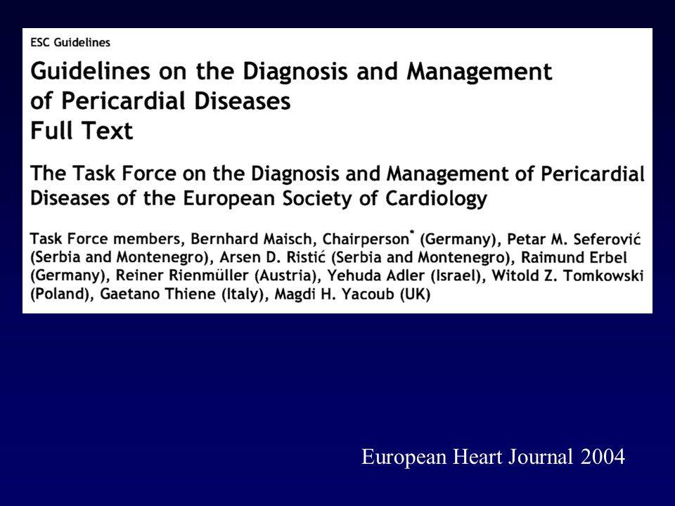 European Heart Journal 2004