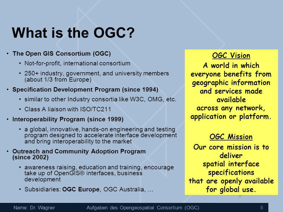 What is the OGC OGC Vision