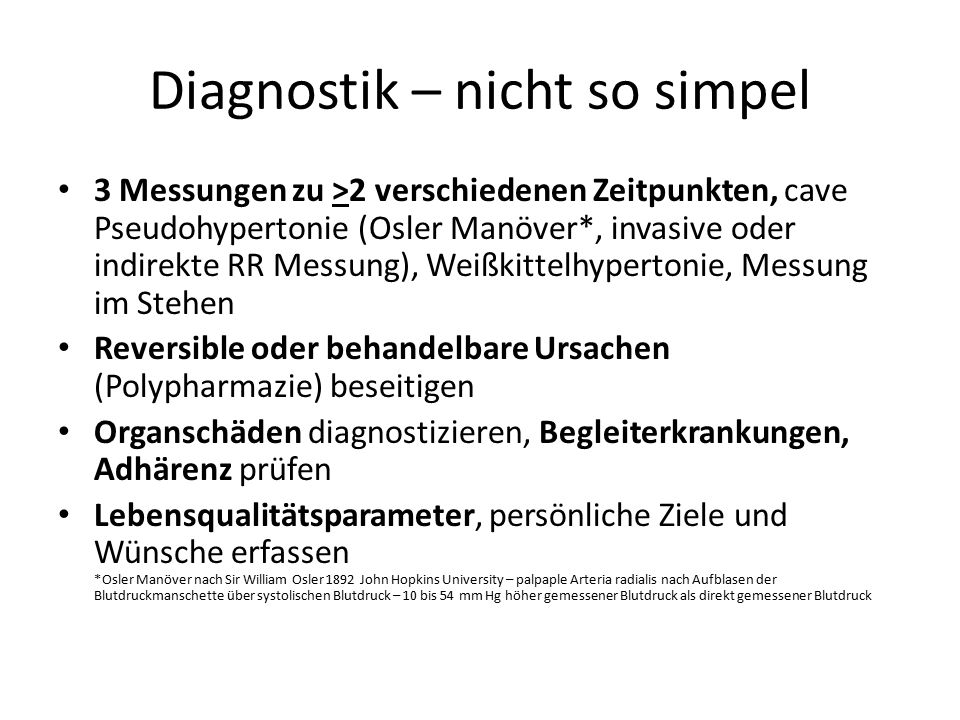 Diagnostik – nicht so simpel