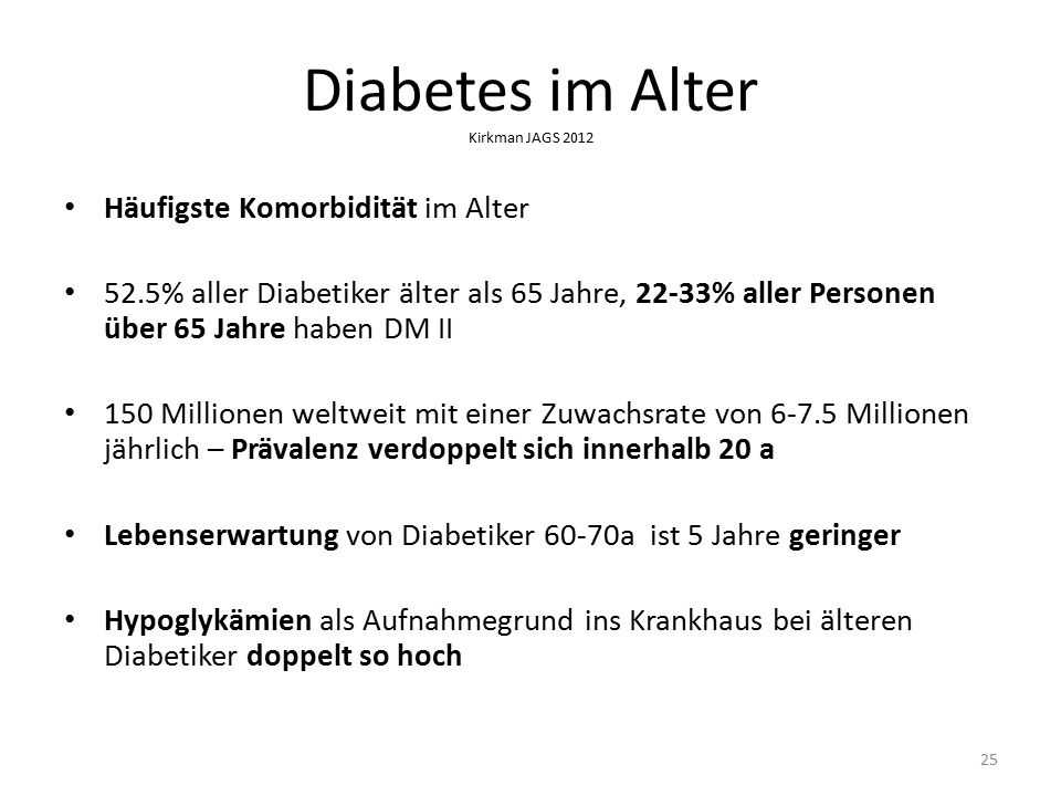 Diabetes im Alter Kirkman JAGS 2012