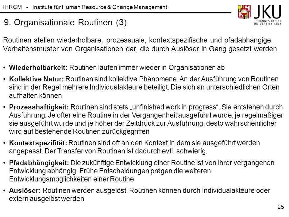 9. Organisationale Routinen (3)