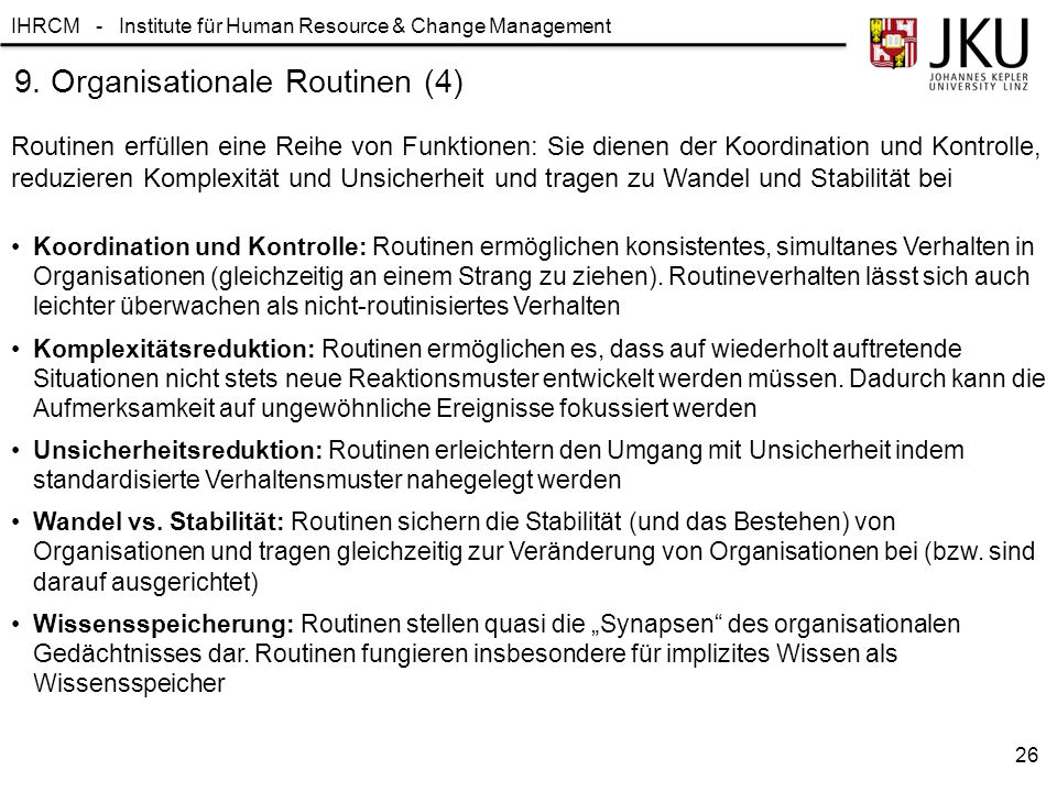 9. Organisationale Routinen (4)