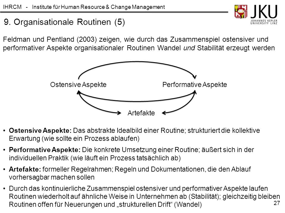 9. Organisationale Routinen (5)