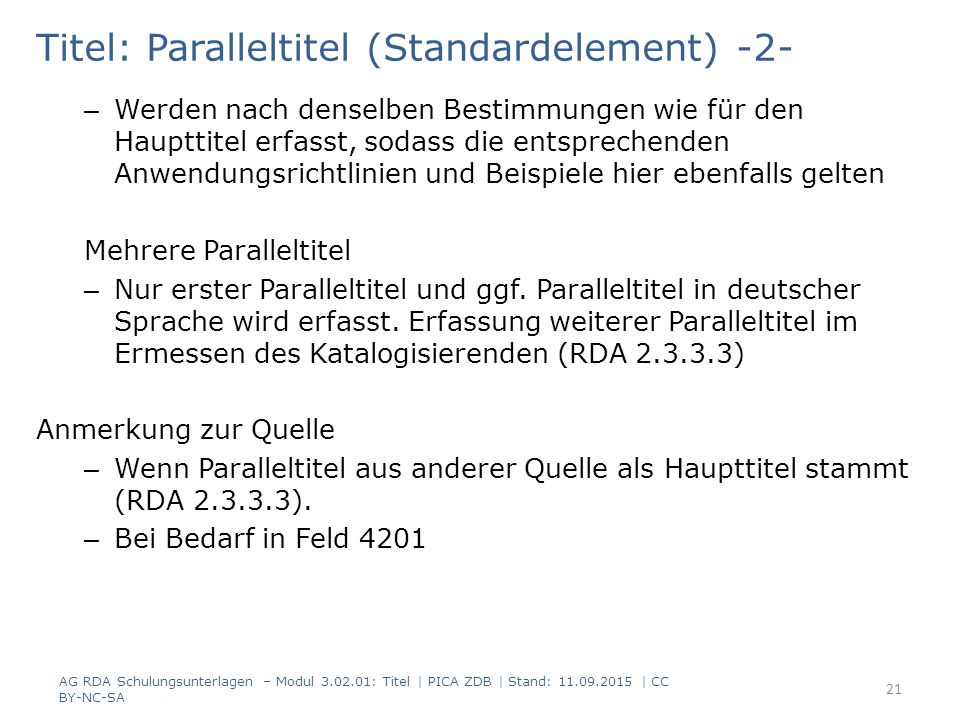 Titel: Paralleltitel (Standardelement) -2-