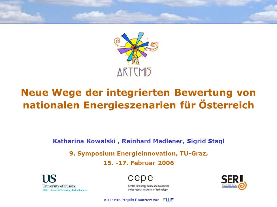9. Symposium Energieinnovation, TU-Graz, Februar 2006