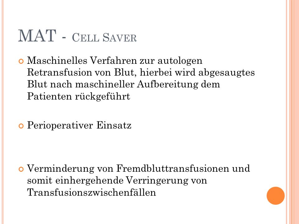 MAT - Cell Saver