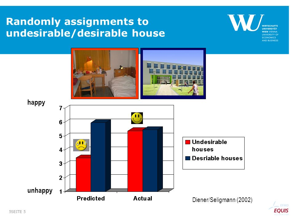 Randomly assignments to undesirable/desirable house