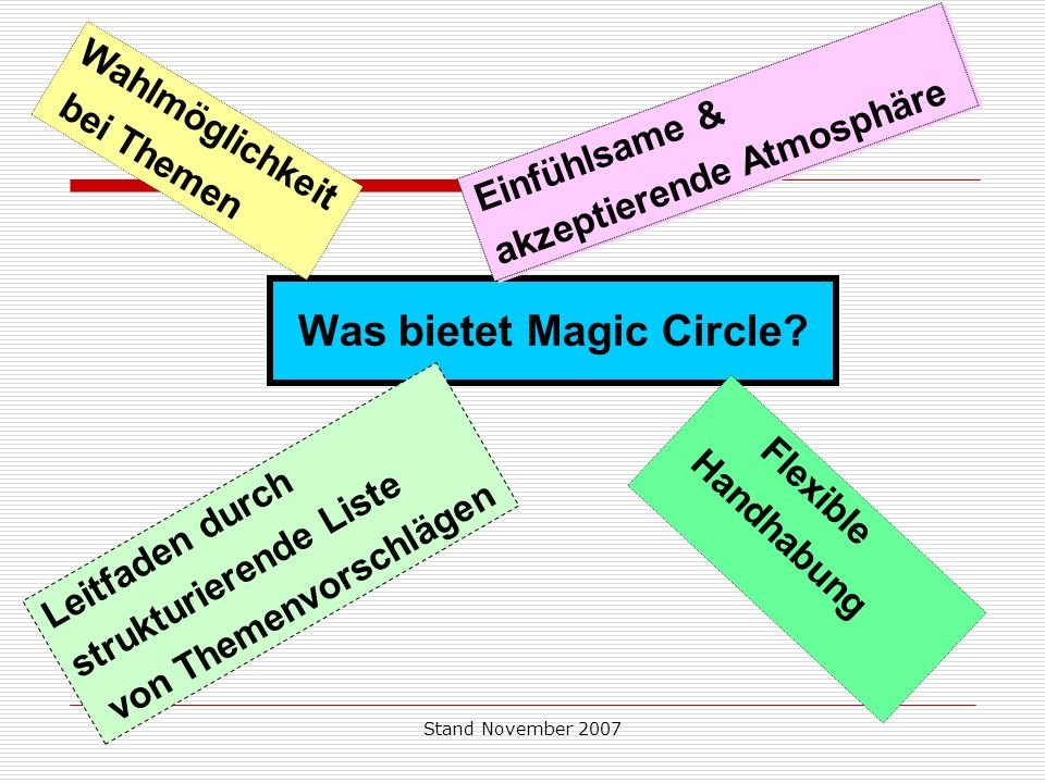 Was bietet Magic Circle